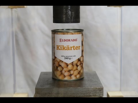 Hydraulic Press | vs | Can of Peas