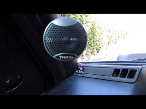 Install Car Tweeters in Car Pillar Belts Panels