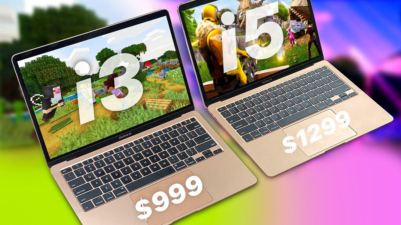 MacBook Air 10 i10 vs i10  GAMING Test! - Minecraft, Fortnite (Kinda),  CS:GO