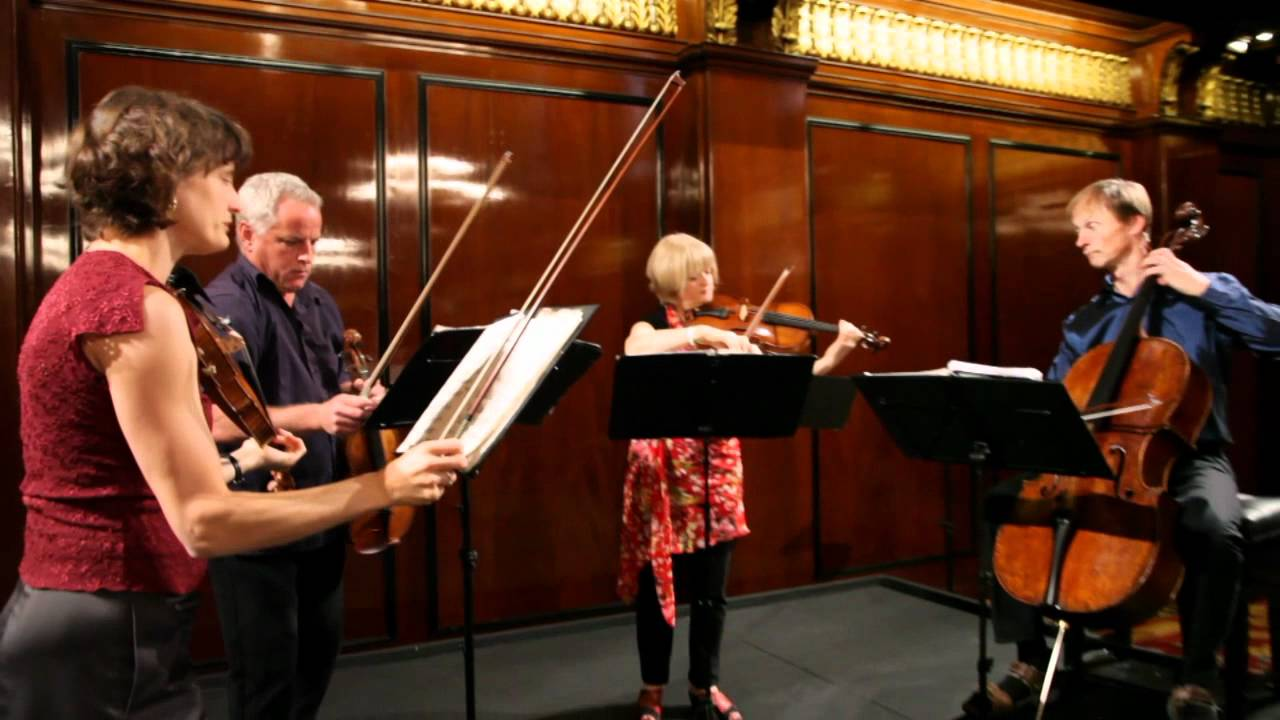 The New Zealand String Quartet rehearses Bartók