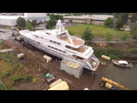 Launching 800,000 lb Yacht