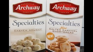 Homestyle Archway Specialties: Cashew Nougat & Mini Salted Caramel Shortbread Cookies Review