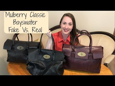 Mulberry Classic Bayswater: Real vs. Fake | How to Authenticate