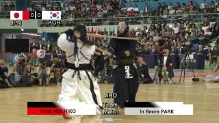 17th World Kendo Championships Men's TEAM MATCH 2ch Japan vs Korea