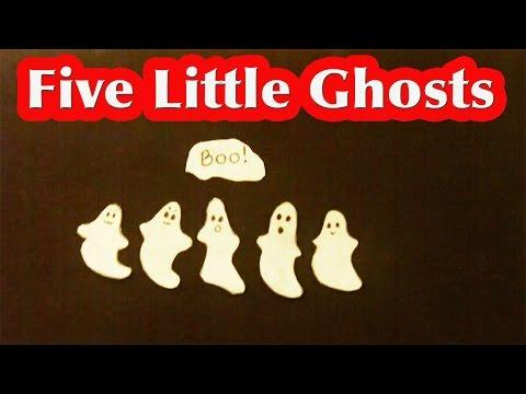 Halloween Songs for children  5 Little Ghosts  Littlestorybug