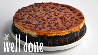 How To Make Peanut Butter And Banana Cheesecake With Candied Bacon | Recipe | Well Done