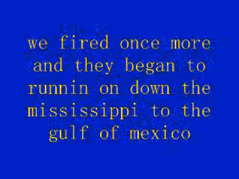 battle of new orleans lyricsjohnny horton