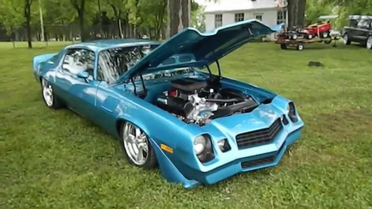 Blue Chevy Camaro Z28 SlammedBagged Showfest 2014 YouTube