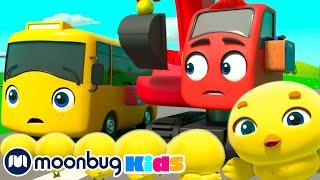 5 Little Ducks - Be Careful When Crossing the Road | Go Buster | Kids Cartoons | Children's Stories