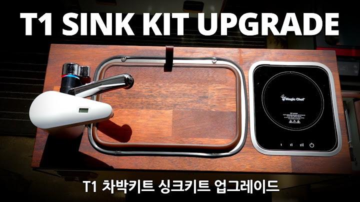 [차박개조]  T1싱크대키트 업그레이드/ 냉온수 생수 수전 달린 차박 캠핑카 싱크대키트/카니발차박/자작캠핑카 DIY/Campervan T1 sink kit upgrade