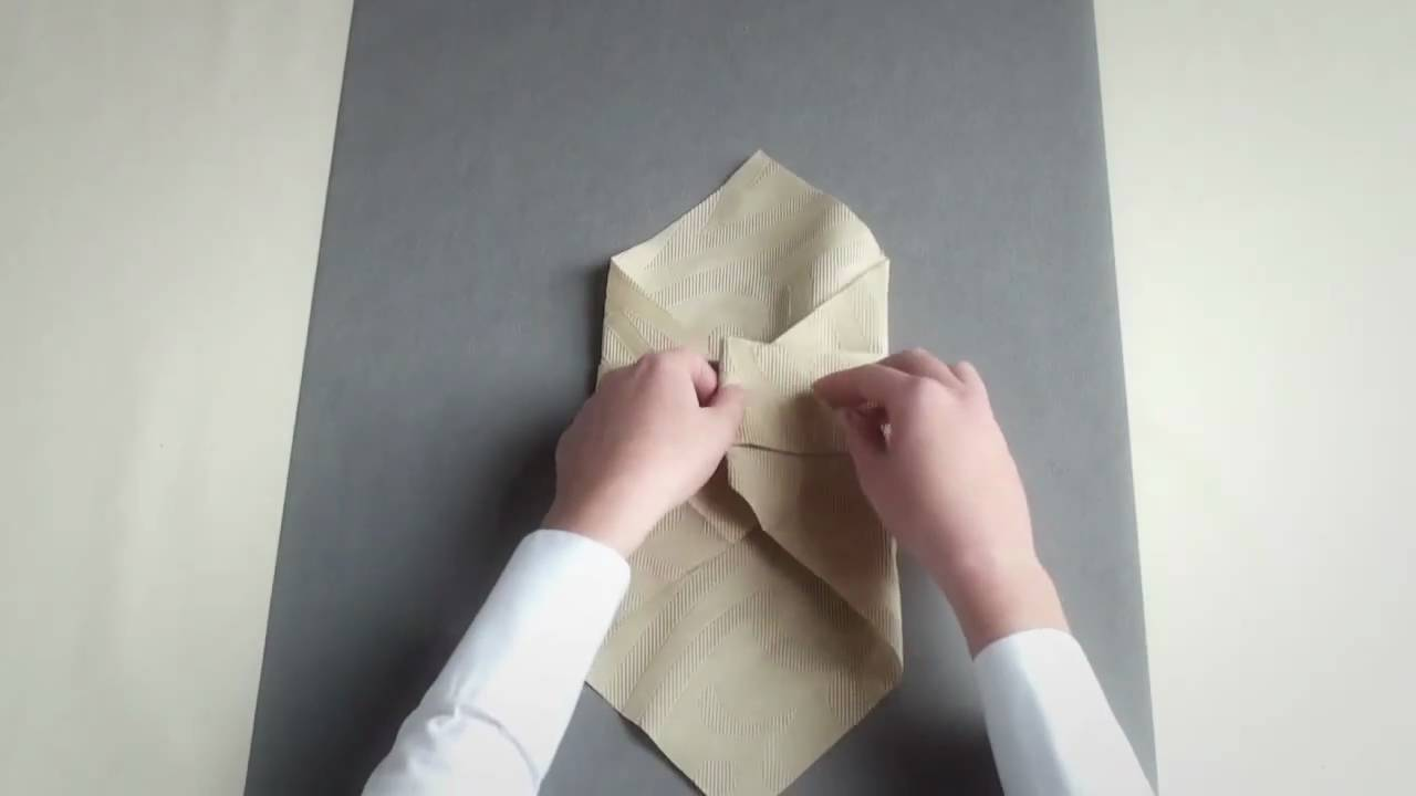 Napkin folding from Duni - Pocket - YouTube