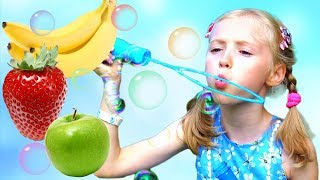 Polina Learns Fruits with Magic Bubble