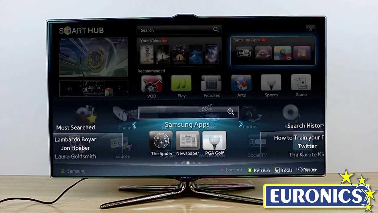 Samsung UE46ES7000U SMART TV Drivers Windows