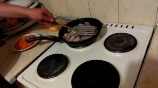 Жареная свинина на сковороде вкусный простой рецепт с мясом