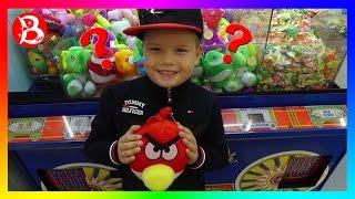 АВТОМАТ С ИГРУШКАМИ ЧЕЛЛЕНДЖ Как достать мягкую игрушку ANGRY BIRDS / CHALLENGE machine  with TOYS