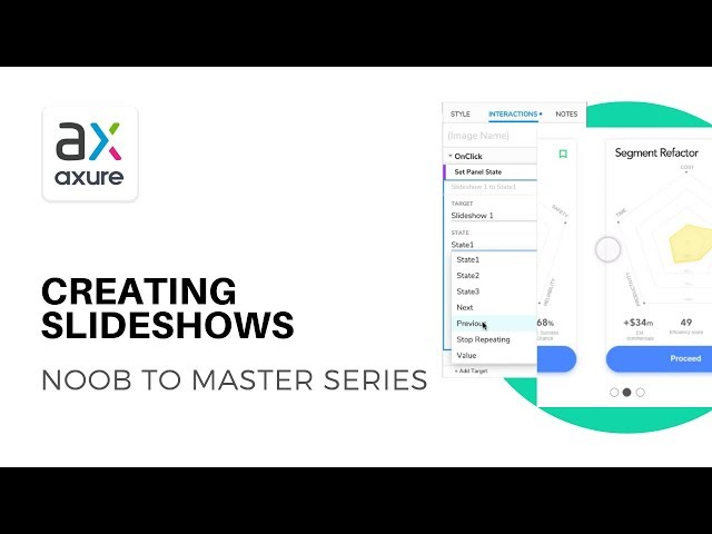 Creating Slideshows and Sliding Content | Axure RP: Noob to Master Ep5