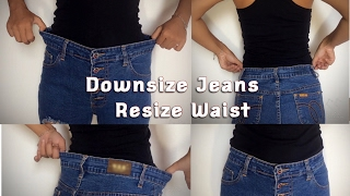 How To Downsize Jeans Resize Waist DIY -TGK/024