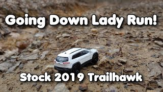 Down the Rocks! Stock Jeep Cherokee Trailhawk Elite, 2019, Off Road Vinton County Ohio