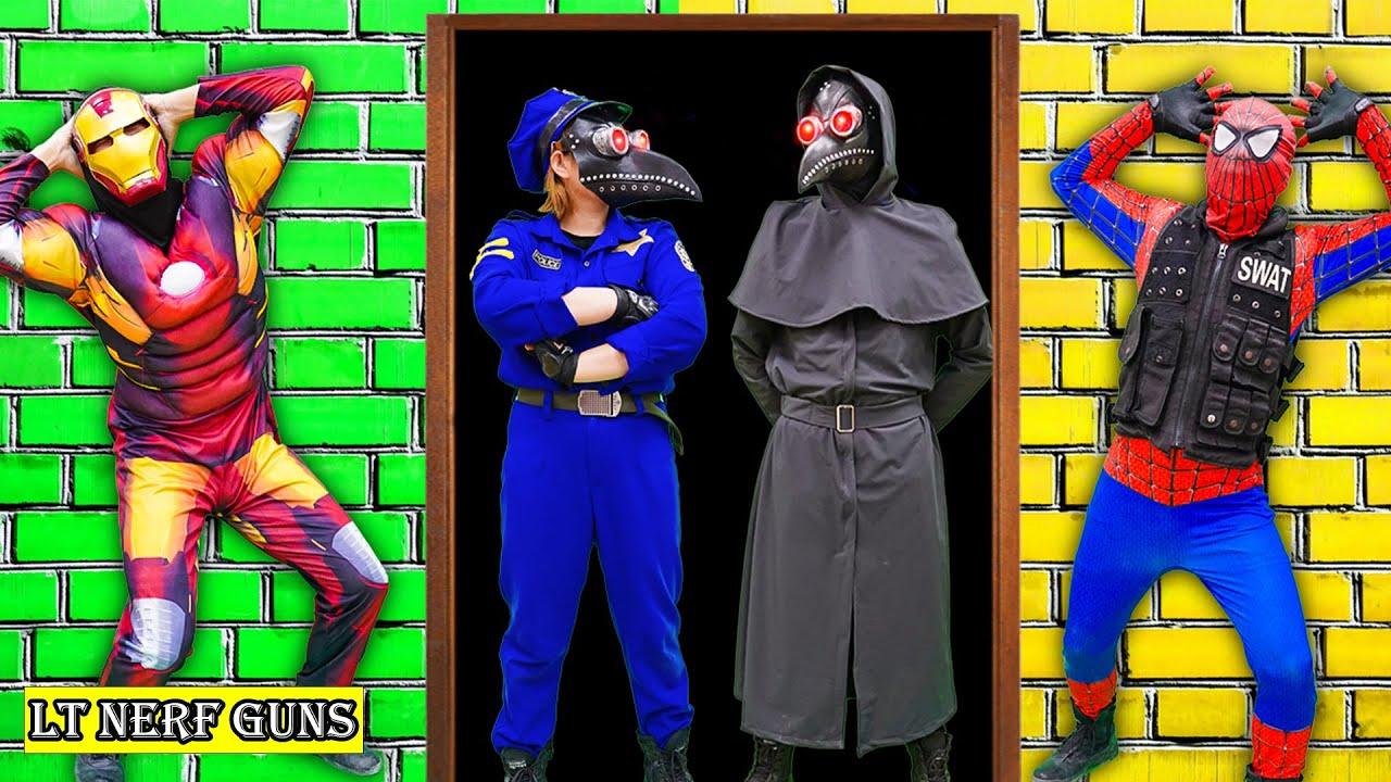LT Nerf Gun: SWAT  X Warriors Nerf Guns Fight Criminal Group The Plague Doctor to Save Police