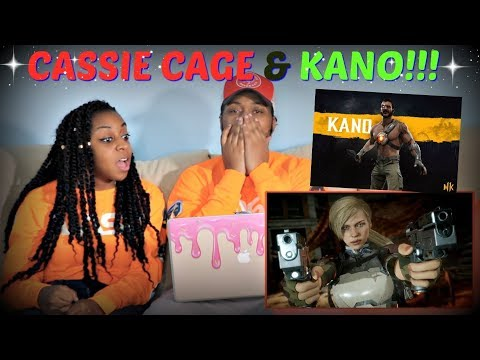 Mortal Kombat  Official Cassie Cage & Kano Character Reveal Trailer REACTION!!!