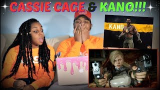 Mortal Kombat 11 Official Cassie Cage & Kano Character Reveal Trailer REACTION!!!