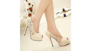 Сексуальные Туфли Platform Pumps Womens Silver Rhinestone Wedding Shoes Ladies Sexy Lace Peep Toe