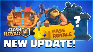 Gambar cover Clash Royale: July Update Reveal! Season 1 Gameplay | Pass Royale | New Card | TV Royale