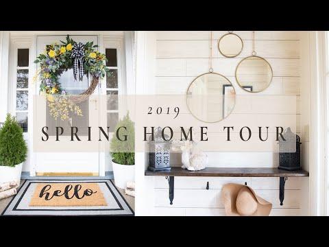 SPRING HOME TOUR 2019   Bright & Cheery Spring Decor Tour   Entire Main Floor Home Tour