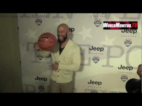 Common arrives at The Jeep Brand and USA Basketball partnership announcement event