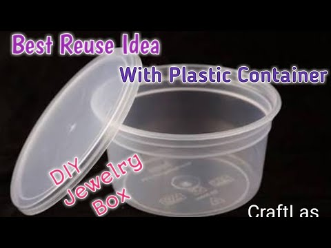 DIY Jewelry Box Making With Waste Material | How To | CraftLas