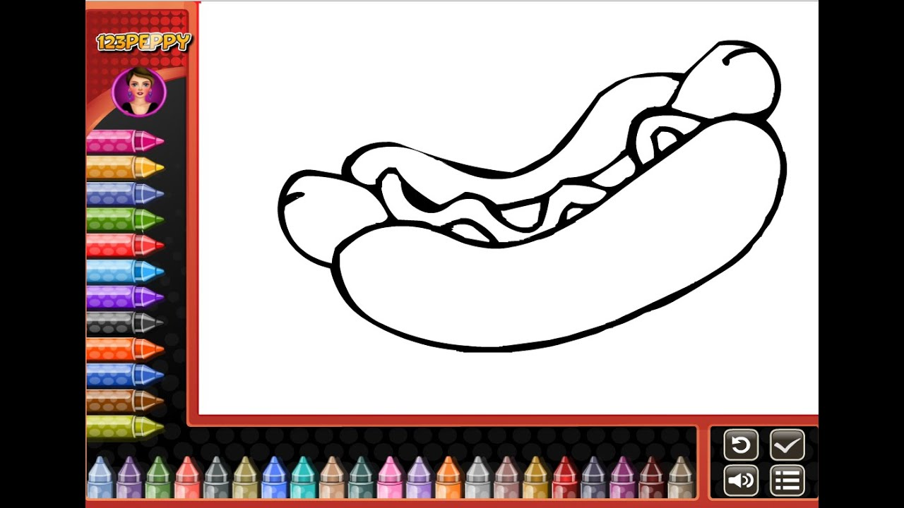 hot dog coloring pages for kids hot dog coloring pages youtube
