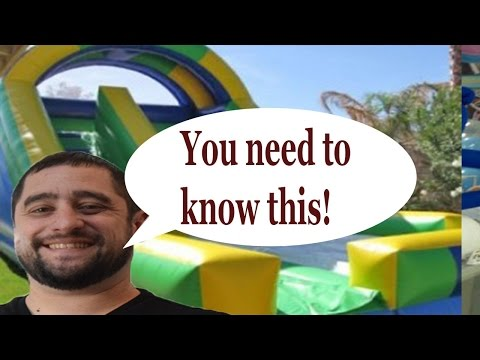 Things you NEED to know before staritng a inflatable bounce house business
