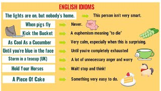 IDIOMS: Top 20 Funny Idioms for Kids with Their Meanings!