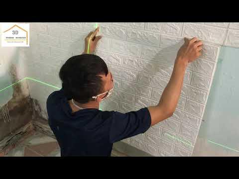 Trang Trí Phòng Ngủ Với Xốp Dán Tường 3D Chi Phí CHƯA ĐẾN 1 TRIỆU | QUÁ RẺ