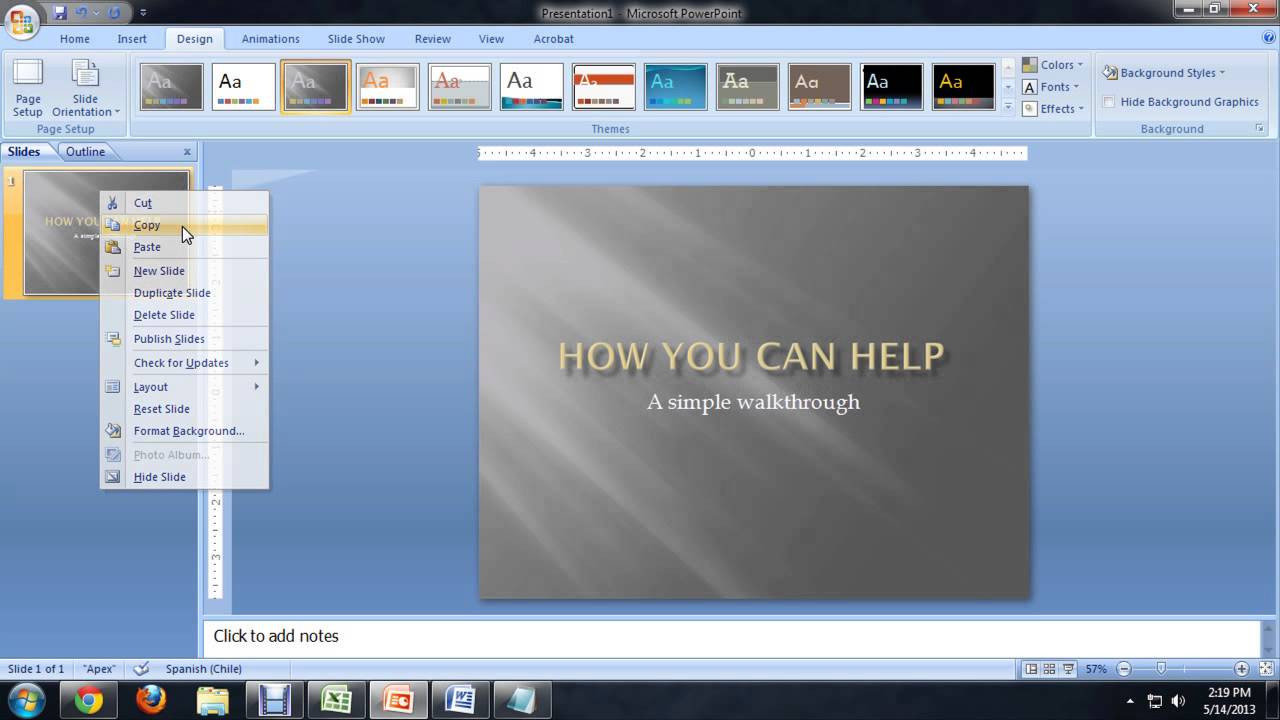 Slide Presentation Creating In Ms Powerpoint