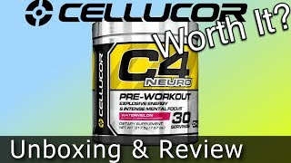 Gambar cover Cellucor C4 Neuro Unboxing, First Impressions & Review – For Gaming?