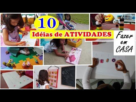 10 DICAS de ATIVIDADES para CRIANÇAS DE 2 A 3 ANOS - Fazer em CASA