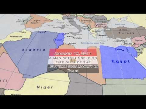 Arab Spring Map - Motion Graphics