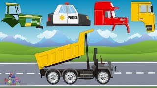 Street Vehicles | Police Car, Fire Truck, Bulldozer, Tractor | Compilation Video for Kids