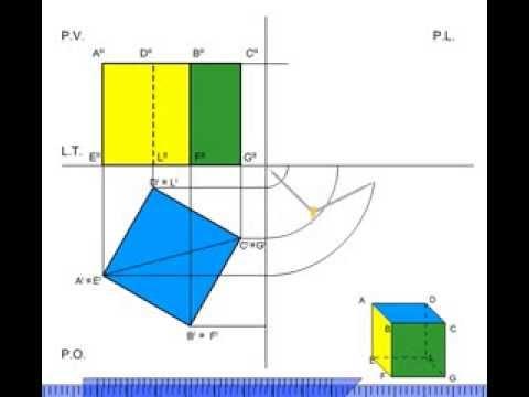 Proiezione ortogonale Quadrato con Paint  Doovi