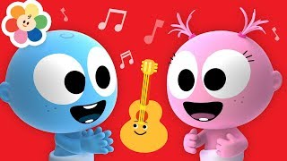 Laughing With Funny GooGoo & GaaGaa Baby | Guitar Music for Babies + More Musical Instruments Sounds