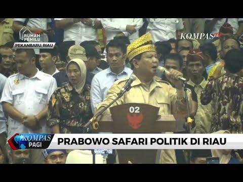 Kampanye di Riau, Prabowo Subianto Janji Bangun Pemerintahan yang Bersih