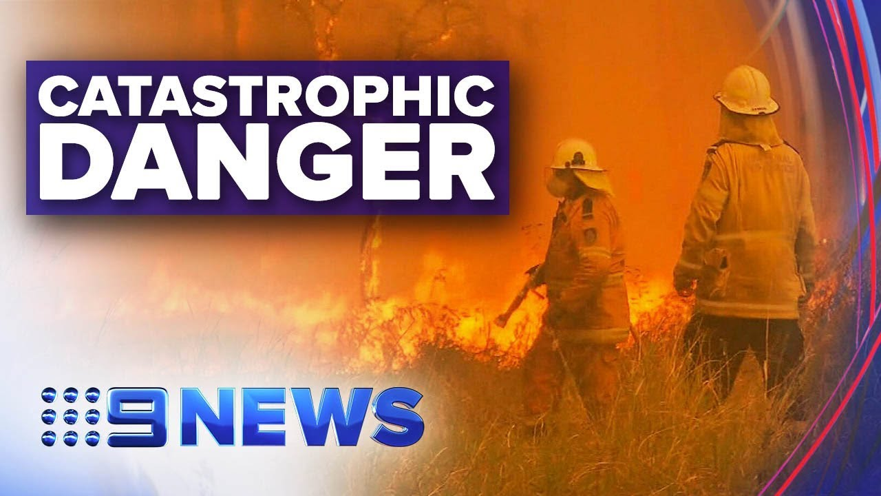 Catastrophic fire warning issued for Hunter region and Greater Sydney | Nine News Australia