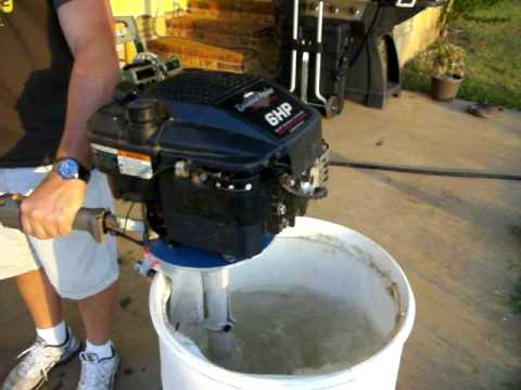 Briggs And Stratton Homemade Outboard Lawnmower Motor
