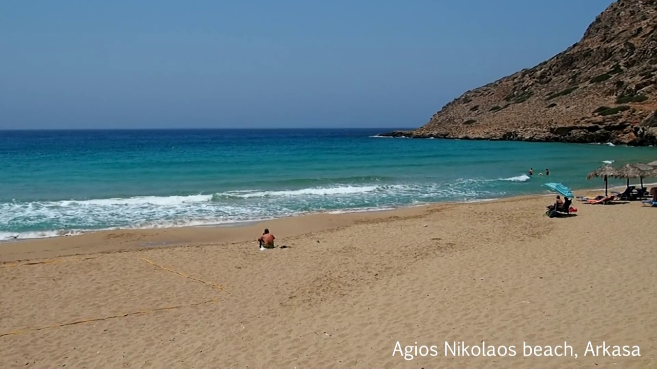 agios nikolaos beach, arkasa, karpathos hd - youtube