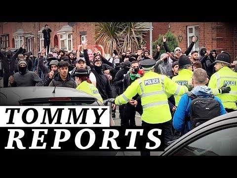 Muslim rioters ATTACK Tommy Robinson voters with bottles, bricks  ...