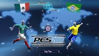 PES 2008 - MEXICO vs BRAZIL (PES Retro Gameplay)