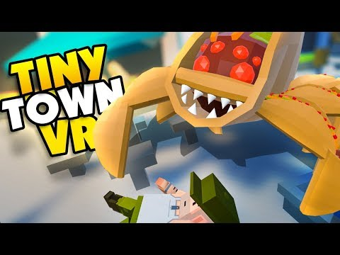 CAN YOU SURVIVE THE TACO MONSTER!? – Tiny Town VR Gameplay Part 72