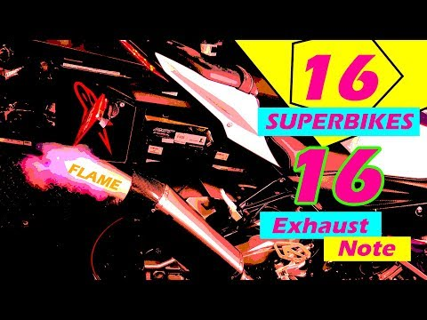 16 Superbikes Exhaust Sounds Compilation !🔥🔥!  😱😱