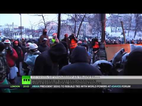 UKRAINE RIOTS UPDATE : Civil war looming ? As protests start to spread country wide !!!